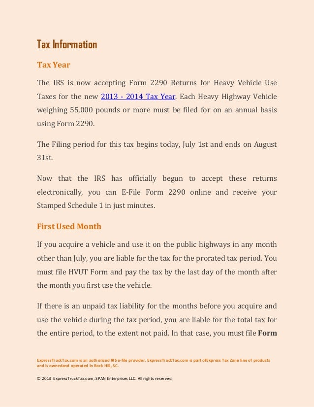 How to e file form 2290 for new vehicle