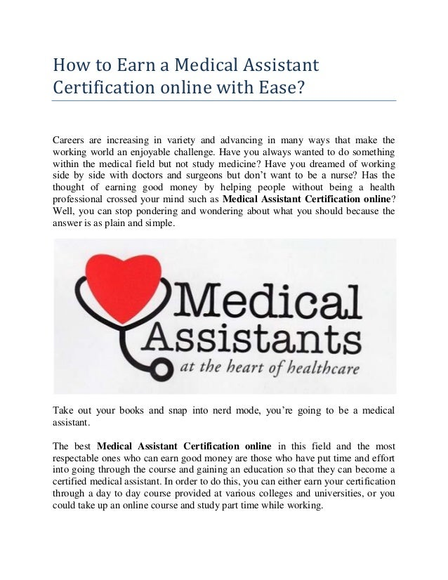 how to earn a medical assistant certification online with ease
