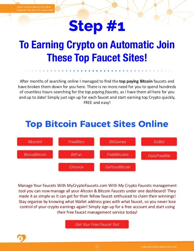 How To Earn Bitcoin Fast FREE and On Automatic Volume 2
