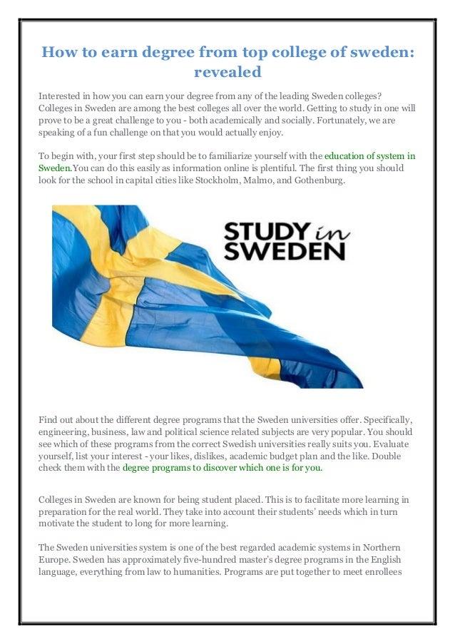 list of universities in sweden