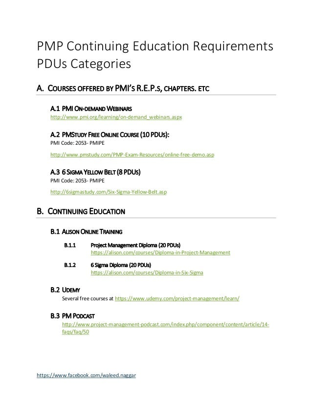 How to Earn Free PMP PDUs