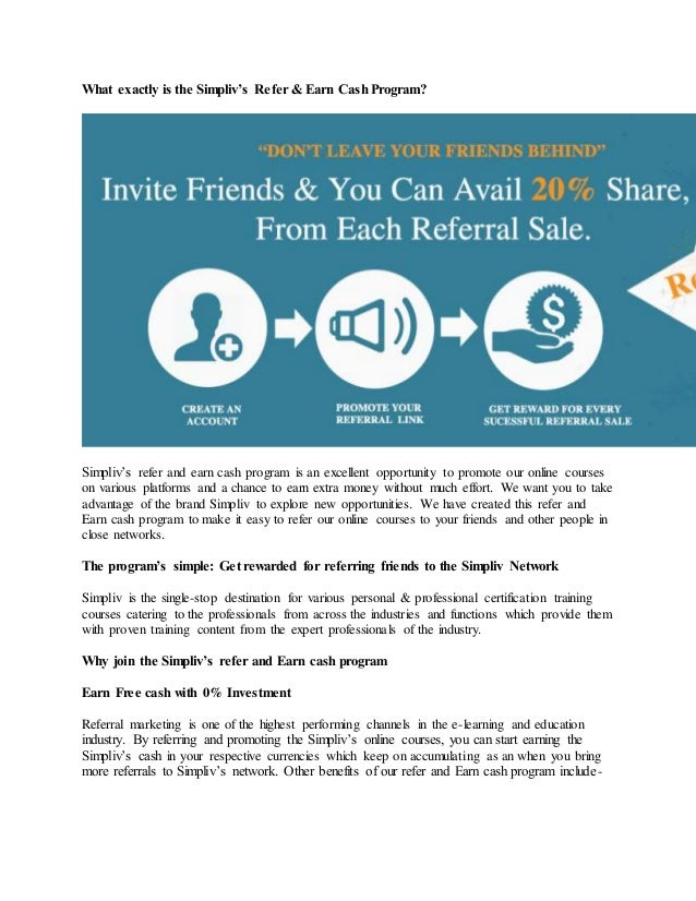 how to earn money from online by referring friends