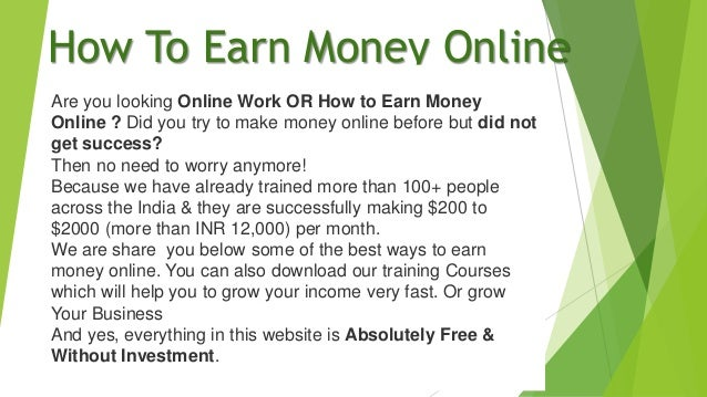 Earn Money Online - Free Course Available Now