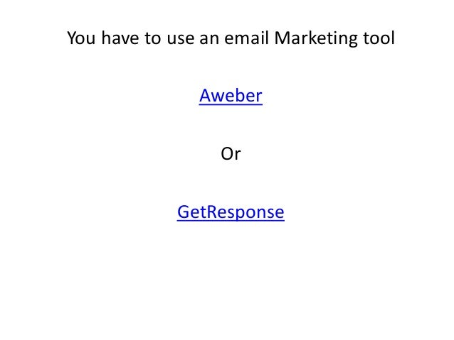 You have to use an email Marketing tool Aweber Or GetResponse