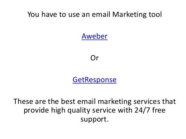 You have to use an email Marketing tool Aweber Or GetResponse These are the best email marketing services that provide hig...