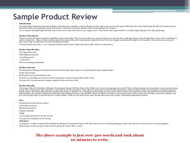 product review sample Product review writing. College paper Service