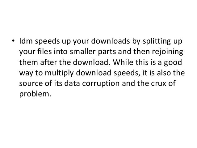How to easily solve data corruption on internet download manager.