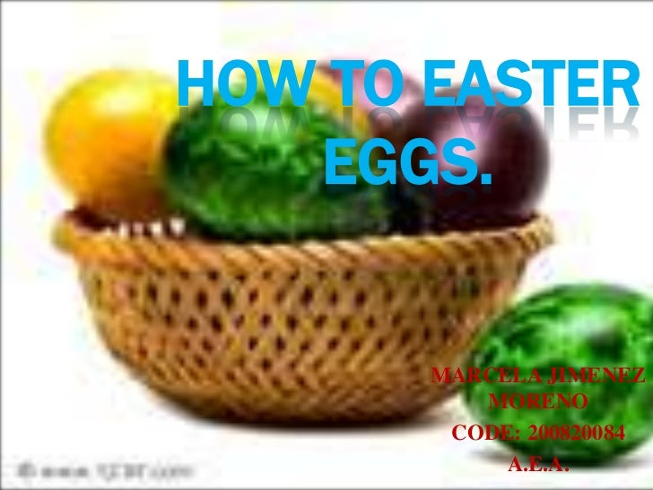 HOW TO EASTER EGGS.<br />MARCELA JIMENEZ MORENO<br />CODE: 200820084<br />A.E.A.<br />