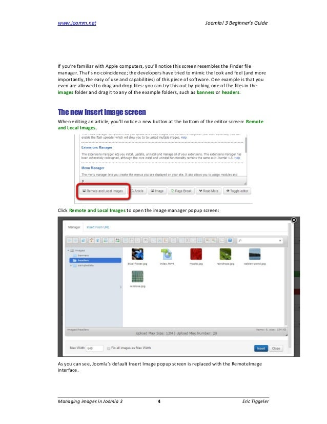 how to edit and manage article images in joomla 3 joomla 3 beginner rh slideshare net absolute beginner's guide to joomla pdf The Gadget Guide