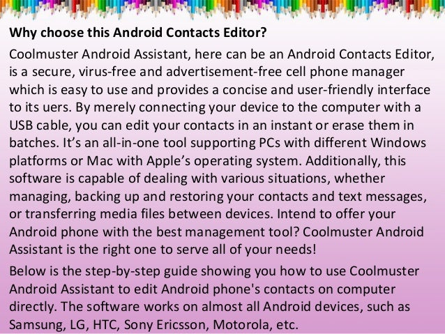how to put contacts on android phone from mac