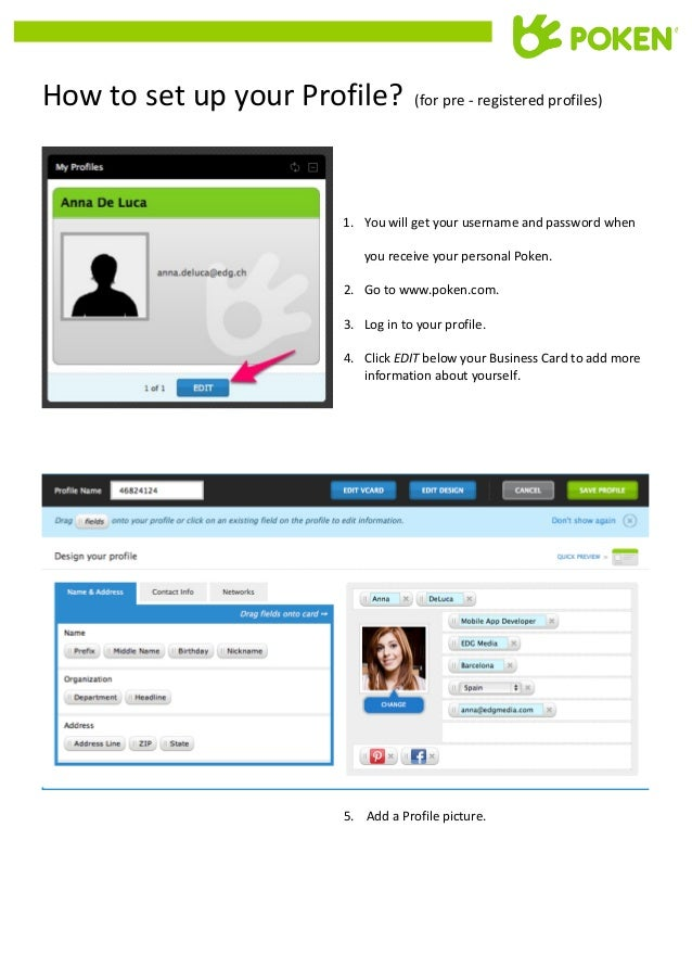 How  to  set  up  your  Profile?      (for  pre  -‐  registered  ...