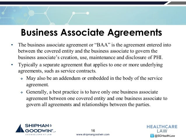 To Effectively Negotiate A Business Associate Agreement WhatS