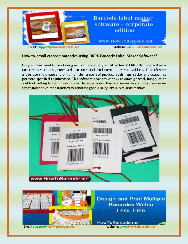 How To Email Created Barcodes Using Drpu Barcode Label Maker