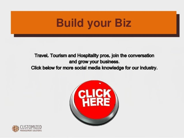 Build your Biz  Travel, Tourism and Hospitality pros, join the conversation  and grow your business.  Click below for more...