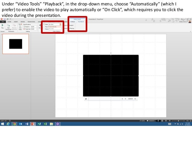 How to embed a youtube video into powerpoint using keepvid adjust the start time and end time and click ok ccuart Gallery