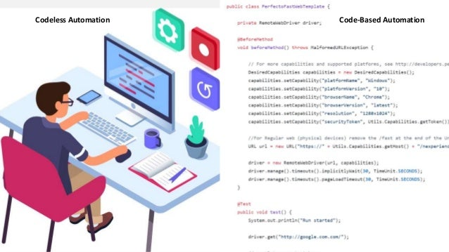 16 | How to Embed Codeless Automation into DevOps perfecto.io Code-Based AutomationCodeless Automation