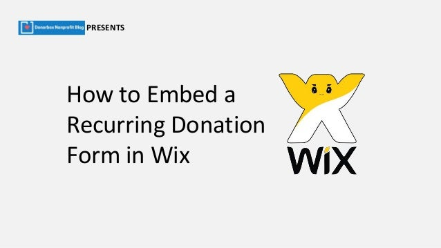 How To Embed Donation Forms on Wix Website