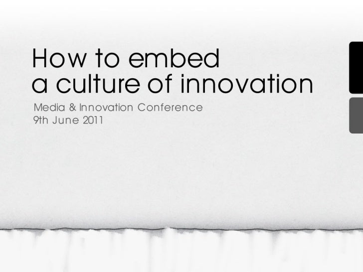 How to embed a culture of innovation at work
