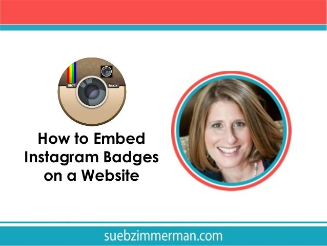 how to embed instagram badges on your website