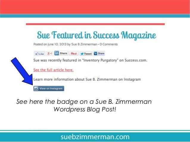 Badge Website how to embed instagram badges on your website