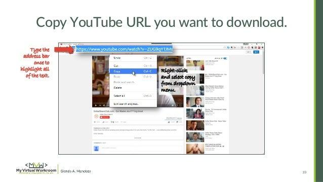 18 19 copy youtube url