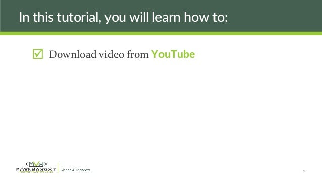 how to cut youtube videos on powerpoint