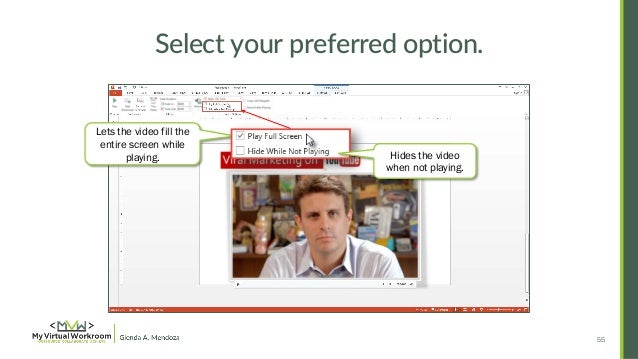 How to embed edit youtube video in powerpoint 2013 54 55 ccuart Gallery