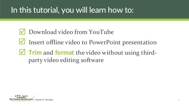 Embed and trim a youtube video into powerpoint 2013 or 2016 youtube.