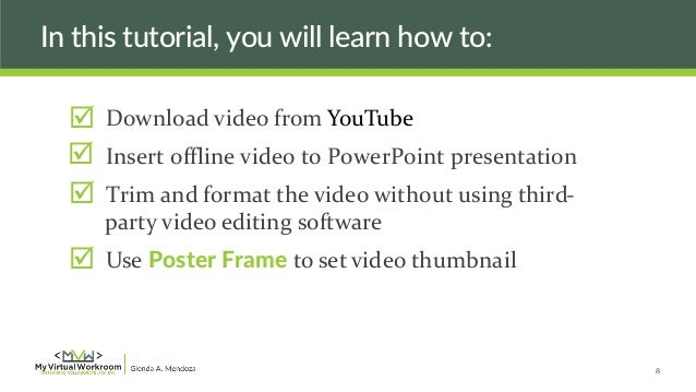 How to add youtube video in ppt, 2007, 2010, and 2003 youtube.