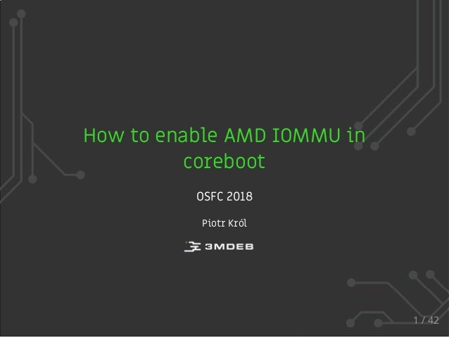 How to enable AMD IOMMU in coreboot?