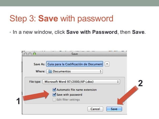 how to encrypt word documents