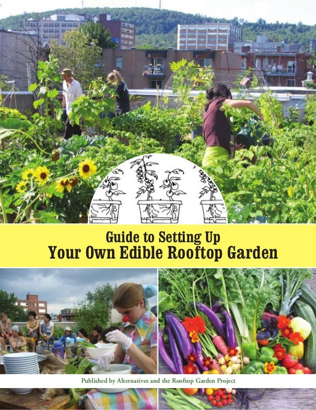 Guide to Setting UpYour Own Edible Rooftop Garden    Published by Alternatives and the Rooftop Garden Project
