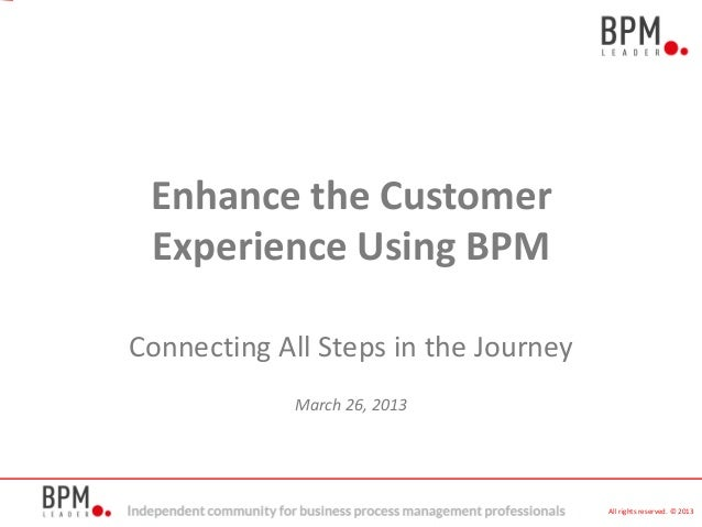 Connecting All Steps in the JourneyMarch 26, 2013All rights reserved. © 2013Enhance the CustomerExperience Using BPM