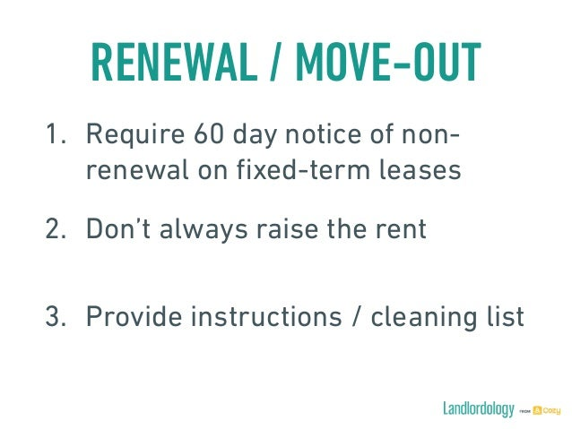60 day move out notice