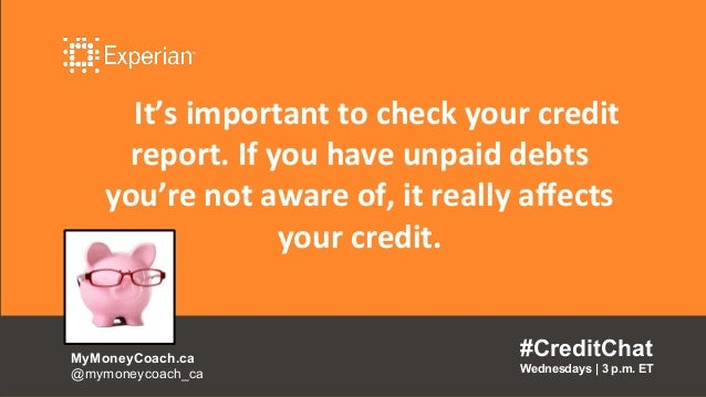 It's important to check your credit report. If you have unpaid debts you're not aware of, it really affects your credit. #...