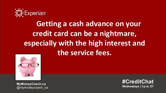 Getting a cash advance on your credit card can be a nightmare, especially with the high interest and the service fees. #Cr...
