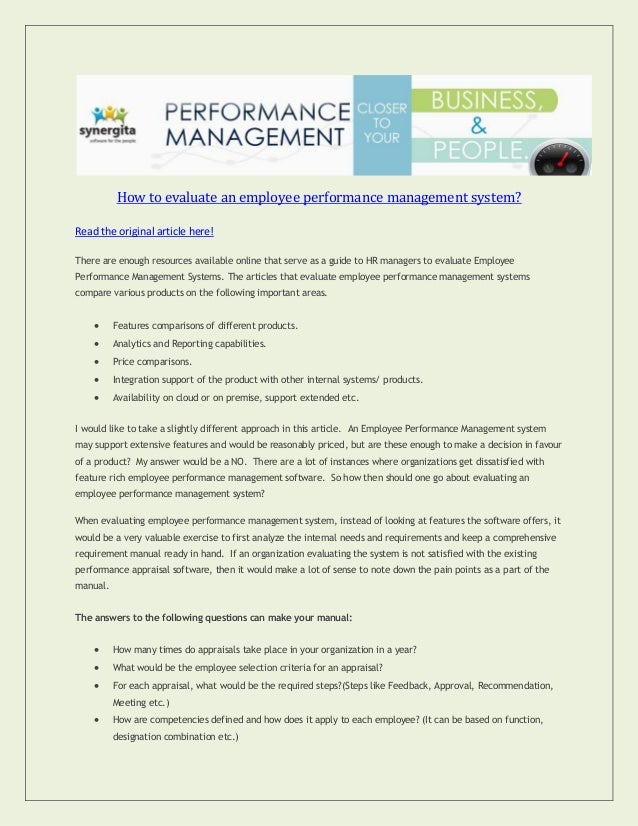 How-To-Evaluate-An-Employee-Performance -Management-System-1-638.Jpg?Cb=1378184070