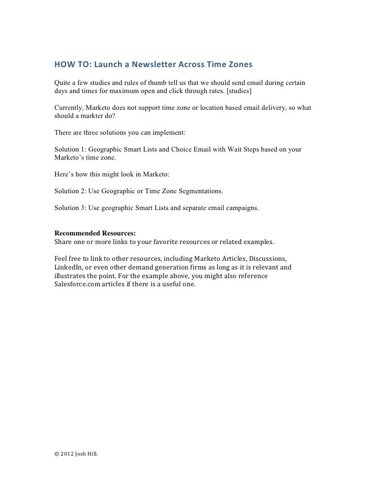 HOW TO: Launch a Newsletter Across Time ZonesQuite a few studies and rules of thumb tell us that we should send email duri...