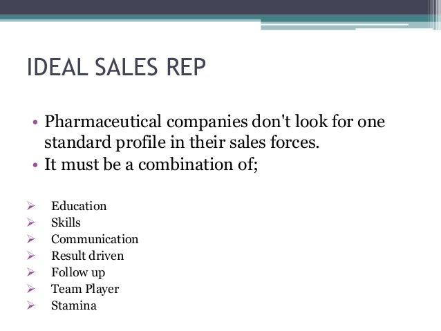 how to be a pharmaceutical rep