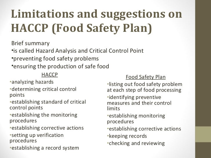 How to execute effective food safety control mechanism - Procedure haccp cuisine ...