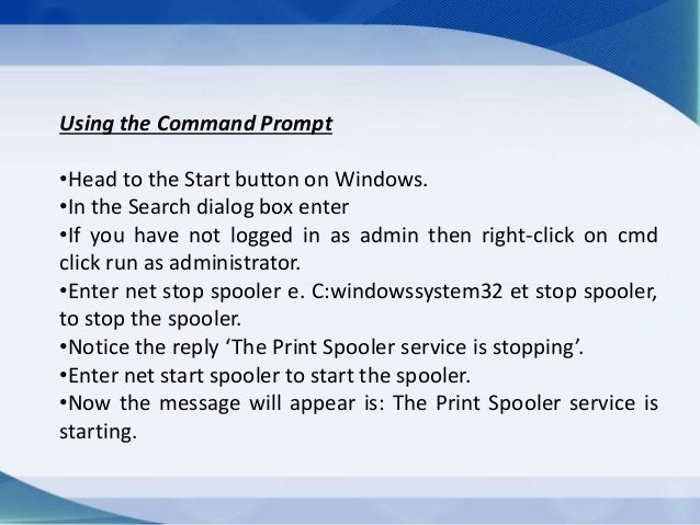 How To Execute Print Spooler in Windows Vista using Lexmark