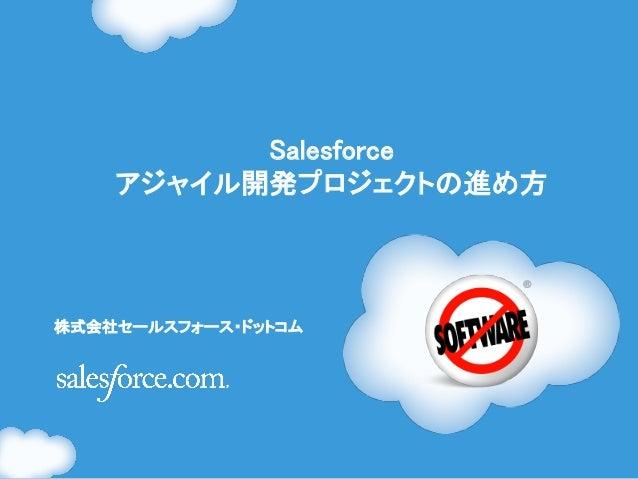 Salesforce    アジャイル開発プロジェクトの進め方株式会社セールスフォース・ドットコム