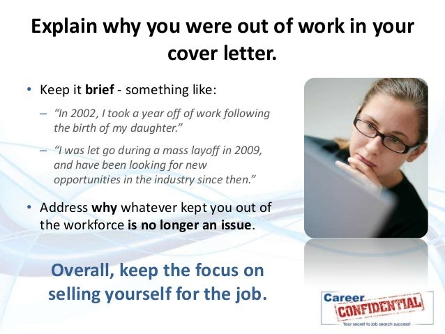 What Is A Cover Letter For A Job How To Explain A Gap In