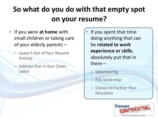time gaps in resume