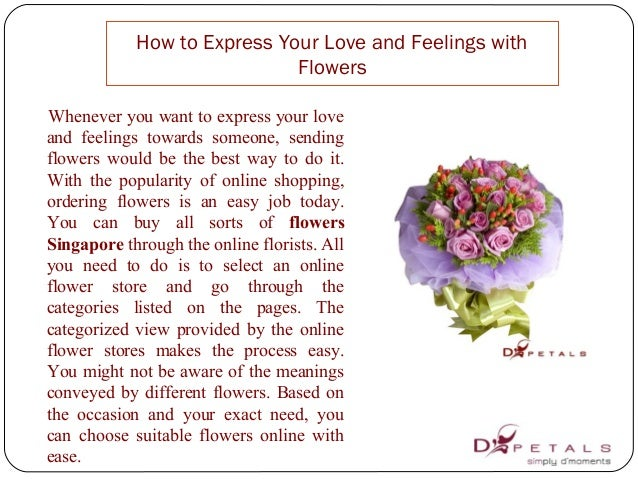 how to express your love and feelings with flowers