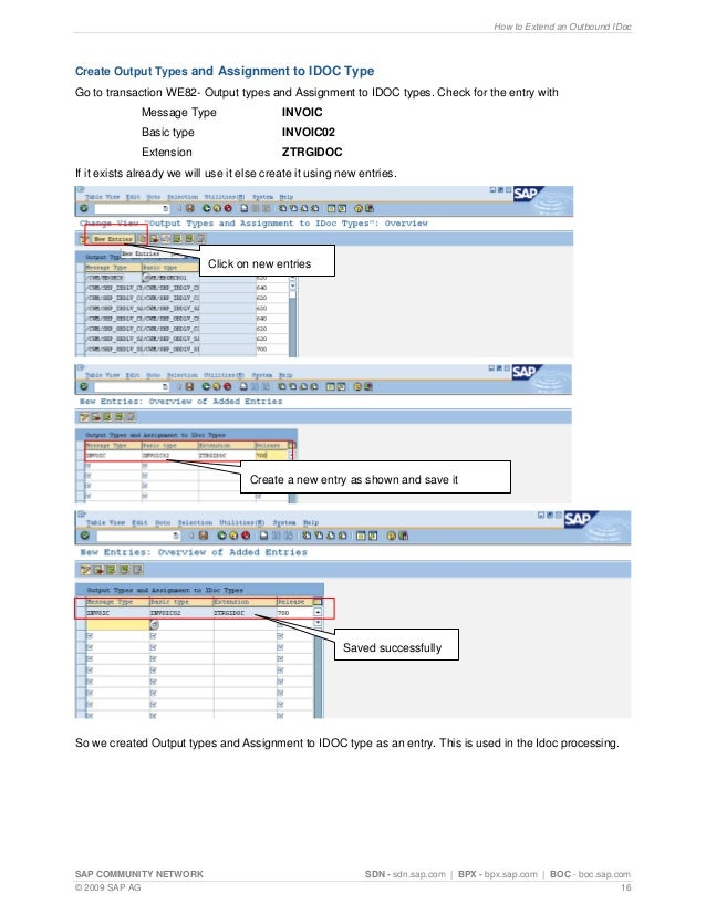 How to extend an outbound i doc