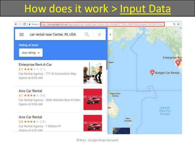 How to extract contacts from Google Maps?