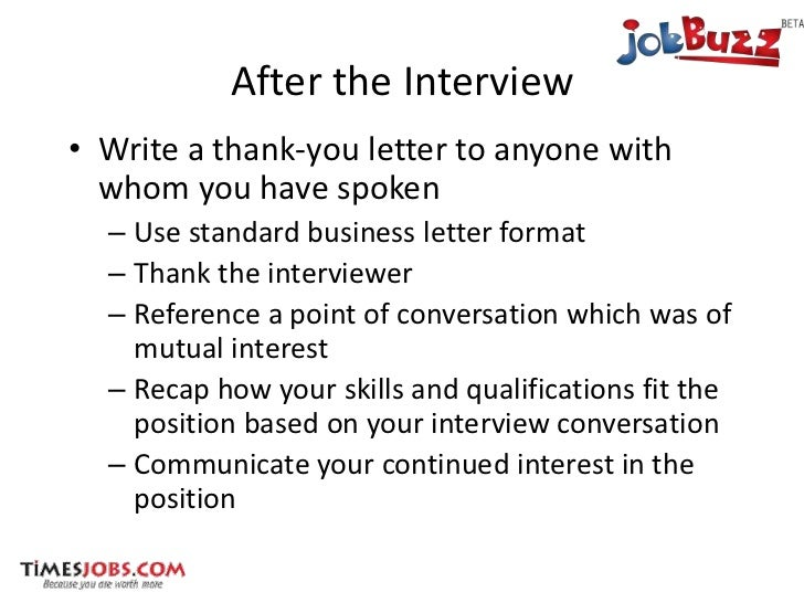 How to face interviews after the interview write a thank you expocarfo