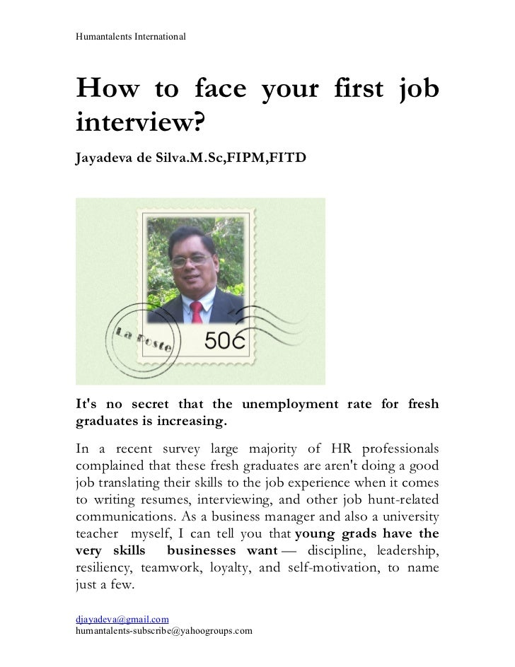 How to face your first job interview ?