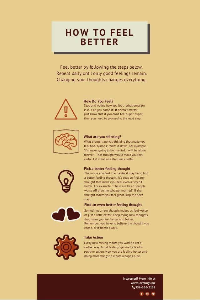 Infographic How To Feel Better